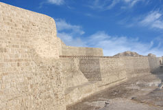Southern wall of the Bahrain fort looking NE Royalty Free Stock Image