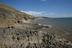 Southerndown from Ogmore Royalty Free Stock Photos