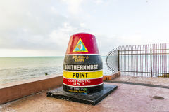 Southernmost point buoy, Key West, USA Royalty Free Stock Images