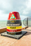 Southernmost point buoy, Key West, USA Royalty Free Stock Photos