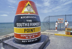 Southernmost point of the continental United States, Key West, Florida Stock Photography