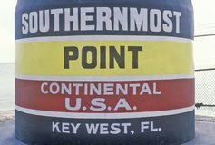 Southernmost point of the continental United States, Key West, Florida Stock Photo