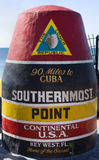 Southernmost Point of Continental USA, Key West. Florida Stock Image