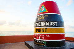Southernmost point in continental USA in Key West Stock Images