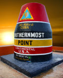 Southernmost point, Florida. Southernmost point at sunset, Florida royalty free stock image
