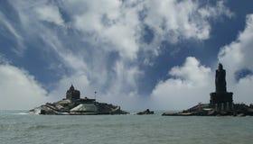 Southernmost point of India. Comorin or Kanyakumari, India Royalty Free Stock Images