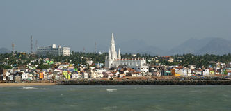 Southernmost point of India. Comorin or Kanyakumari, India Stock Images