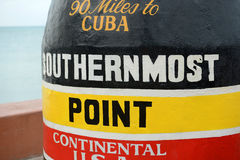 Southernmost Point in Key West, Florida Stock Photography
