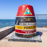 Southernmost Point in Key West,  Florida, USA. Southernmost Point marker, Key West, Florida, USA Stock Photos
