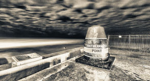 Southernmost point in Key West, night view Royalty Free Stock Photos