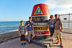 Southernmost Point marker, Key Stock Photo