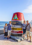 Southernmost Point marker, Key West,  USA Stock Photos