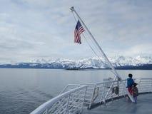 Southest Alaska dentro del paso Imágenes de archivo libres de regalías