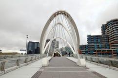 Southgate脚桥梁,墨尔本市,维多利亚 库存照片