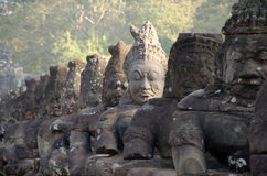 Southgate of Angkor Thom Stock Images
