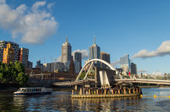 Southgate footbridge in Melbourne Stock Images