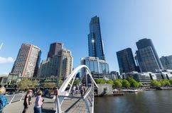 Southgate footbridge w Melbourne Zdjęcie Royalty Free