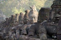 Southgate van Angkor Thom Stock Afbeeldingen