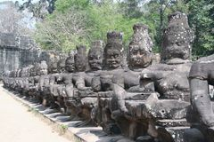 Southgate van Angkor Thom Stock Foto
