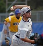 Southpaw maggiore 2011 di serie di mondo di baseball della lega Fotografie Stock Libere da Diritti
