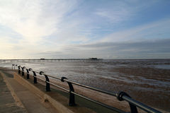 Southport Beach and Pier. Royalty Free Stock Photography