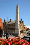 Southport för huvudsaklig gata för krigminnesmärke blom- stad Merseyside Royaltyfri Fotografi