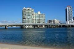 Southport horisont - Gold Coast Queensland Australien Royaltyfri Foto