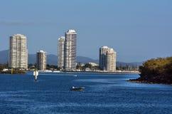 Southport linia horyzontu - złoto Brzegowy Queensland Australia Obraz Royalty Free