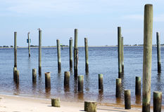 Southport North Carolina. Photograph of the waterway in Southport, NC Stock Photos