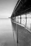 Southport Pier-Schiene Lizenzfreie Stockbilder