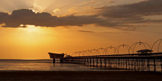 Southport Pier at Sunset Royalty Free Stock Images