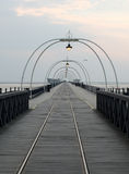 Southport pier at sunset Royalty Free Stock Photos