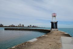 Southside of North Avenue Breakwater Light Tower Stock Images