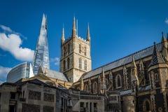 Southwark大教堂在一个晴天 免版税图库摄影
