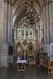 Southwark大教堂的内部,伦敦 免版税库存照片