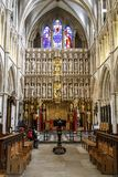 Southwark大教堂的内部,伦敦 免版税图库摄影