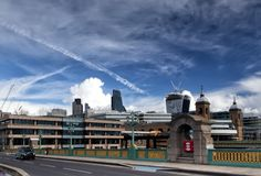 Southwark Bridge and City of London Stock Photo