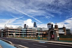 Southwark Bridge and City of London Royalty Free Stock Photo