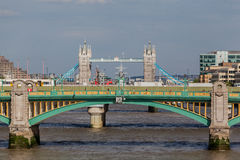 Southwark Bridge London England Stock Image