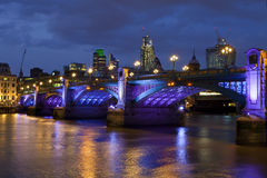 Southwark Bridge in London Royalty Free Stock Photos