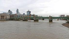 Southwark Bridge London. Southwark Bridge Over River Thames in London stock photo