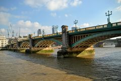 Southwark Bridge London Royalty Free Stock Photography