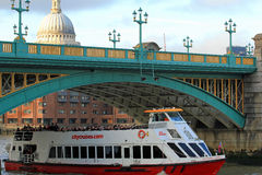 Southwark Bridge, London. Southwark bridge in the sunset, London, UK Stock Photography