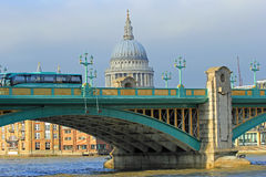 Southwark Bridge, London. Southwark bridge in the sunset, London, UK Royalty Free Stock Images