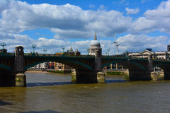 Southwark Bridge in London, United Kingdom Royalty Free Stock Photo
