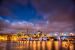 Southwark Bridge at night Stock Photos