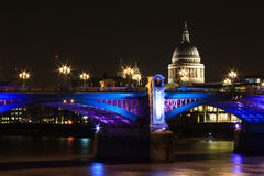Southwark bridge at night Stock Photography