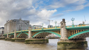 Southwark Bridge over the River Thames in London Stock Image