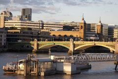 Southwark Bridge on the River Thames Royalty Free Stock Images