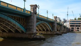 Southwark bridge and river Thames in London Stock Photos